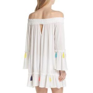 Surf Gypsy Tassel Cover Up Off Shoulder Sun Dress